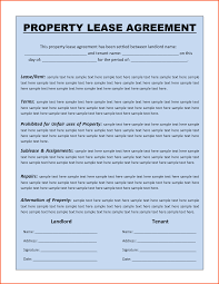 8 free lease agreement template word survey template words
