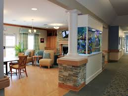 great gathering space for kendall manor that fish tank rocks