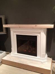 how to make an electronic fireplace look more realistic for the