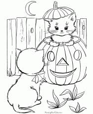 halloween pictures print color free coloring