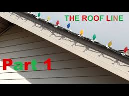 putting up lights part 1 roof line