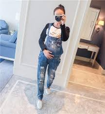 pregnancy jumpsuit brand designers holes maternity for denim