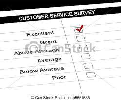 stock illustrations of customer service survey form illustration
