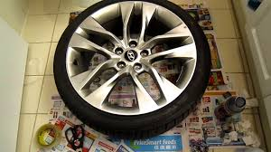 how to repair and paint scratched alloy wheel 2015 hyundai
