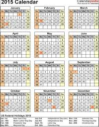 2015 monthly calendar with holidays calendar picture templates