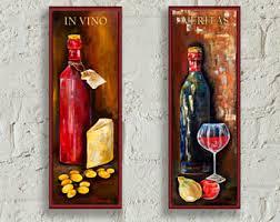 Wine Decor For Kitchen Wine Wall Decor Wine Tasting Kitchen Decor Wall Art Sign Tuscan