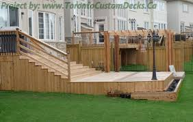 Backyard Decks Pictures Toronto Custom Deck Design Pergolas Fences Outdoor Kitchens
