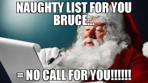 Santa Meme - grayson shelton you best not be on my naughty list meme santa
