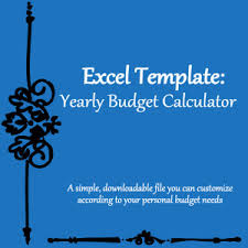Budget Calculator Spreadsheet by Excel Templates Yearly Budget Calculator Spreadsheet