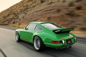 porsche 911 green singer mixes new porsche 911 with old one autoevolution