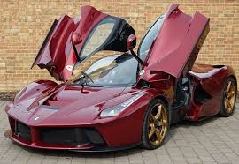 golden ferrari price laferrari 1 1 dark red gold wheels alcantara interior cars cars