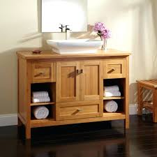 sinks vessel sink cabinet ideas vanity teak bathroom open vessel