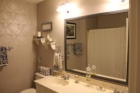 Wood Frames For Bathroom Mirrors Stylish Framed Bathroom Mirrors Home Design By John