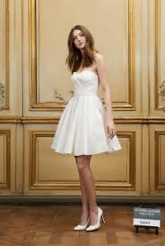 puffy skirt fashion summer short wedding dress boat neck and 3 4