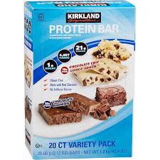 kirkland signature protein bar chocolate brownie chocolate chip