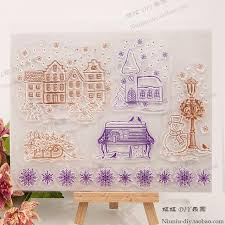 wholesale sweet home transparent clear silicone stamp seal for
