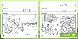grandad u0027s farm draw count activity sheet roi worksheet