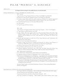 Instructor Resume Samples by Yoga Instructor Resume Sample Contegri Com