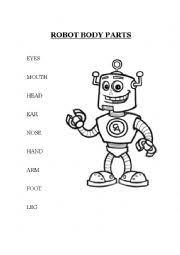 english teaching worksheets robots