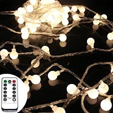 led fairy lights with timer amazon com 50 leds 16 feet globe led string lights with remote
