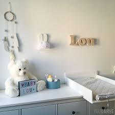lettre chambre bébé découpe de matériaux sur