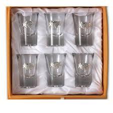 bicchieri in vetro bicchieri in vetro lupa set 6 pezzi bicchieri vetro uva argento