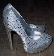 wedding shoes quiz quiz silver sparkle high stiletto heel bridal shoes size 3