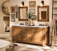 pottery barn bathroom lighting brilliant sonoma double width mirror pottery barn throughout vanity
