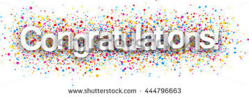 congratulation poster congratulations paper poster color drops vector stock vector