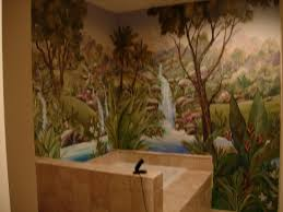 miscelaneous murals orange county murals murals for every room mural bathroom forest 2
