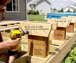 Deck Wood Bench Seat Plans by 52 Best Deck Bench Images On Pinterest Deck Benches Built In