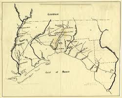 Florida Panhandle Map by Florida Memory Map Of Andrew Jackson U0027s Route In East Florida 1818