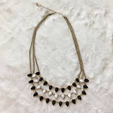black jewelry necklace images Jewelry black and white statement necklace poshmark jpg