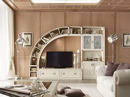 Simple Furniture For Led Tv White Wooden Cabinet And Curvy Shelving Units Also Black Led Tv