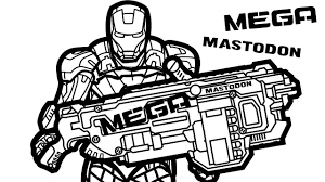 iron man and nerf gun coloring book pages kids fun art ffftp net