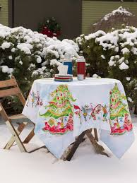 Christmas Table Cloths by Elves Tablecloth Linens U0026 Kitchen Tablecloths Beautiful