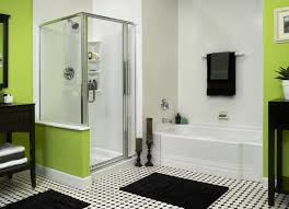 Black And White Bathrooms Ideas by Black White And Green Bathroom Decor Living Room Ideas