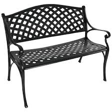 photo on terrific black outdoor chairs for bench seat cast iron