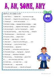 Countable And Uncountable Some Any Exercises Pdf Some Any A An Worksheet Free Esl Printable Worksheets Made By