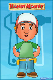 draw handy manny step step disney characters cartoons