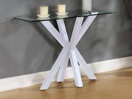 X Base Console Table Small Narrow Best Modern Contemporary Console Table With Rectangle