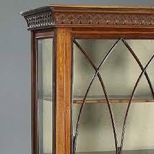 antique english edwardian adam style display cabinet eron