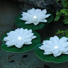 battery operated floating pool lights lily pad floating solar lights floating lily pad with white led