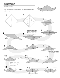 origami instructions origami mustache instructions by cahoonas