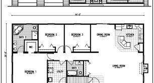 3 Bedroom Rectangular House Plan 3 Bedroom House Plans Home Rectangular House Plans 3 Bedroom 2 Bath