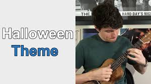halloween theme ukulele lesson youtube