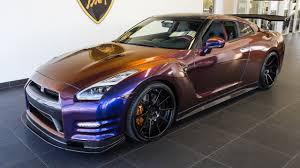 nissan gtr matte black gold rims 2015 chameleon purple nissan gtr black edition youtube