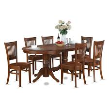 east west furniture vancouver 7 piece 76x40 oval dining 7 pc oval