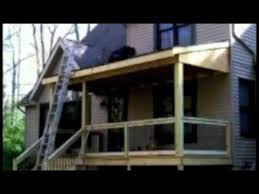 How To Close In A Covered Patio Front Porch Construction Youtube