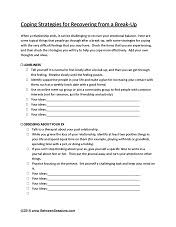 between sessions divorce worksheet therapeutic activities for